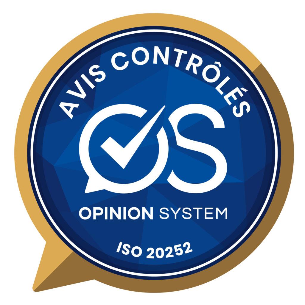 Logo Opinion System, système d'avis certifiés